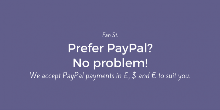 Prefer PayPal? No problem! Cheap fansite hosting from Fan St.